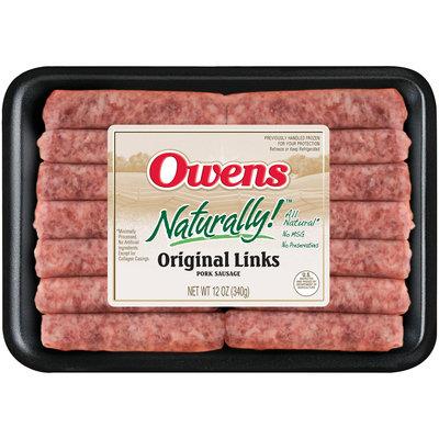 Owens® Naturally!™ Original Pork Sausage Links 12 oz. Package