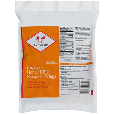Tastybird® Honey BBQ Seasoned Wings 32 oz. Bag
