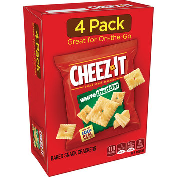 Cheez-It® White Cheddar Baked Snack Crackers 4-0.75 oz. Pouches