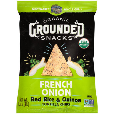 Lundberg® Organic Grounded Snacks™ French Onion Red Rice & Quinoa Tortilla Chips 1.5 oz. Bag