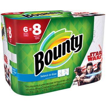 Bounty Select-A-Size Star Wars Print Paper Towels 6 ct Pack