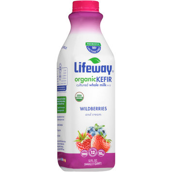 Lifeway® Wildberries and Cream Organic Kefir 32 fl. oz. Bottle