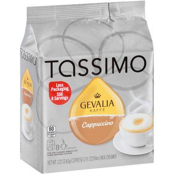 Tassimo Gevalia Cappuccino Coffee & Milk Creamer T Discs 8 ct Bag