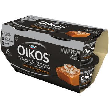 Dannon® Oikos® Triple Zero Blended Greek Nonfat Yogurt Salted Caramel 5.3oz 4 pack