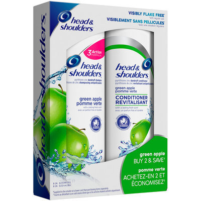 Head & Shoulders® Green Apple Anti-Dandruff Shampoo & Conditioner Kit 2 pc Box