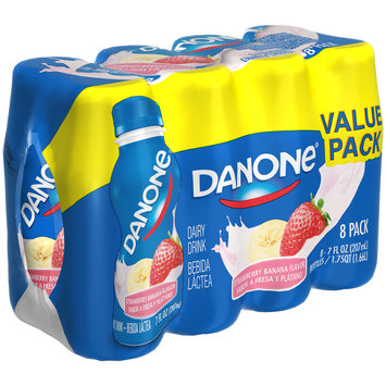 Dannon® Danone® Dairy Drink Strawberry Banana Flavor 7 fl. oz. 8 pack