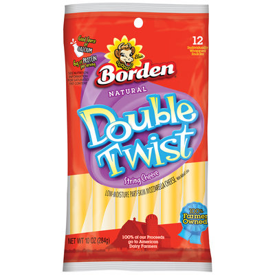 Borden Double Twist Sting Cheese, 12 ct