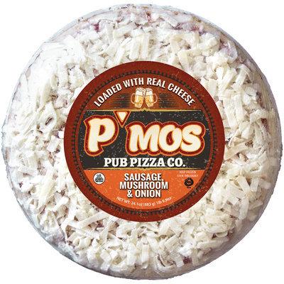 P'MOs Pub Pizza Co. Cheese, Sausage, Mushroom & Onion Pizza 24.5 oz. Pack
