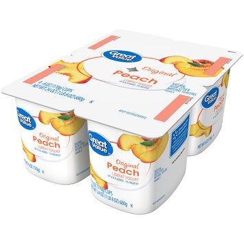 Great Value™ Original Peach Lowfat Yogurt