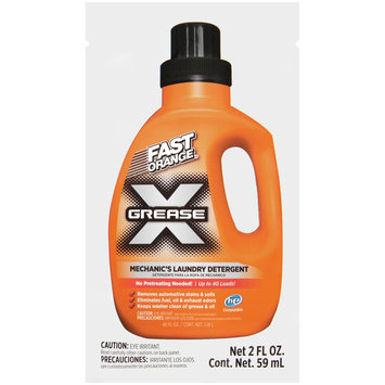 Fast Orange® 22300 Grease X Mechanic's Laundry Detergent 2 fl. oz. Packet