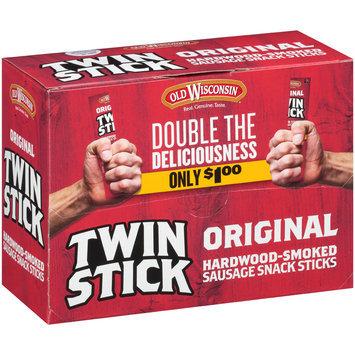 Old Wisconsin® Original Twin Stick Hardwood-Smoked Sausage Snack Sticks 24 ct Box