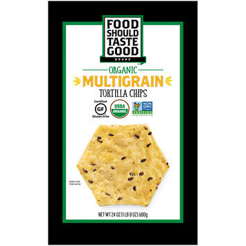 Food Should Taste Good™ Organic Multigrain Tortilla Chips 24 oz. Bag