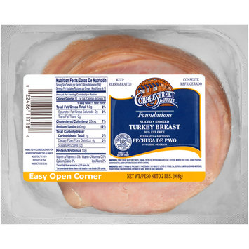 Cobblestreet Market® Foundations Sliced Smoked Turkey Breast 2 lb Package