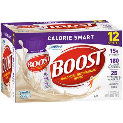 Boost® Calorie Smart Vanilla Delight Balanced Nutritional Drink 12-8 fl. oz. Bottles