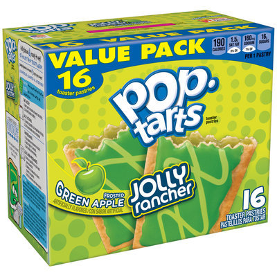 Pop Tarts® Jolly Rancher Frosted Green Apple Toaster Pastries 28.2 oz. Box