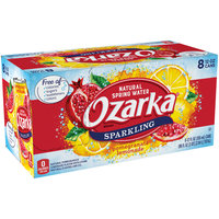 OZARKA Pomegranate Lemonade Sparkling Natural Spring Water 12oz cans (Pack of 8)