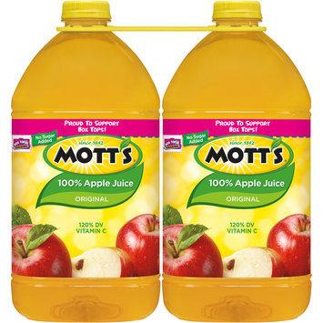 Mott's 100% Original Apple Juice, 1 Gal Bottles, 2 Pack