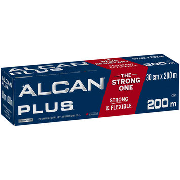 Alcan® Plus® Premium Quality Aluminum Foil 200m Box