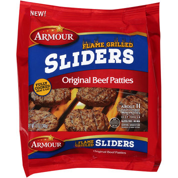 Armour® Flame Grilled Sliders Original Beef Patties 12 oz. Bag