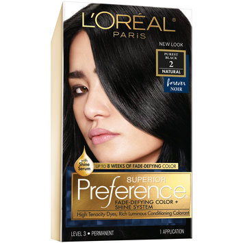 L'Oreal® Paris Superior Preference® Hair Color Natural 2 Purest Black 1 kt Box