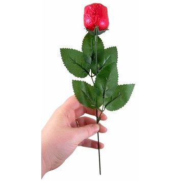 Valentine's Day Belgian Chocolate Rose on Single Long Stem, 1.16 Ounce [Single Rose Bud]