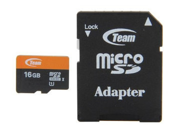 Team Group Team 16GB microSDHC Flash Card Model TUSDH16GUHS03