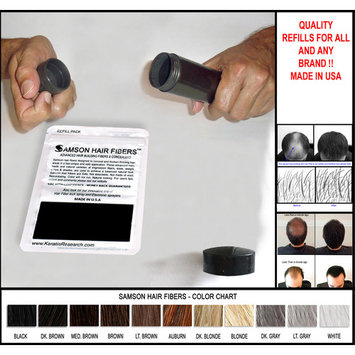 DARK BROWN 100 GRAMS SUPER SIZE Original Samson Best Hair Loss Concealer Building Fibers Refill Kit With 100 grams refills also suitable for other brands containers
