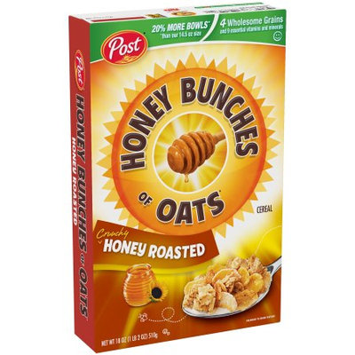 Honey Bunches of Oats Honey Roasted, 18 Ounce Boxes