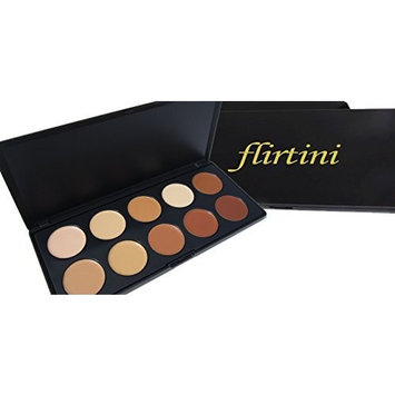 FLIRTINI 3D Look Cream Foundation and Camouflage Concealer 10 color Versatile uses for Cheeks,Lips,and Eyes. Cream Nature, Matte by ML Collection
