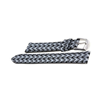 Michele Chevron Patchwork Fashion Leather 18 Mm Watch Band Strap Ms18aa430037