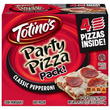 Totino's Classic Pepperoni Party Pizza 4 Pack, 9.8 OZ