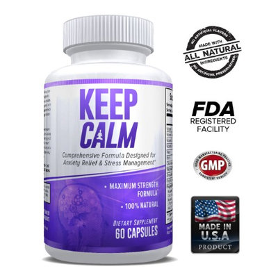 Explicit Supplements Keep Calm - Comprehensive Formula for Anxiety Relief & Stress Management 60 Caps