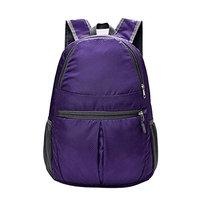 Fheaven Women Men Fashion Solid Color waterproof Nylon Shoulder Bag Backpack Zipper Adjustable Strap Travel Messenger Bag
