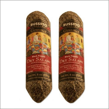 Dry Salami with Black Pepper - 8 Ounce - (Pack of 2)