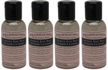 Pharmacopia Verbena Body Wash lot of 4 each 1.1oz bottles.4oz (Pack of 4)