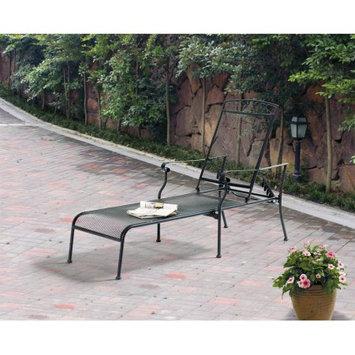 Keysheen Indurstry Shanghai Co Ltd Mainstays Jefferson Wrought Iron Chaise Lounge, Black