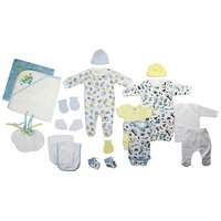 born Baby Boy 19 Pc Layette Baby Shower Gift Set