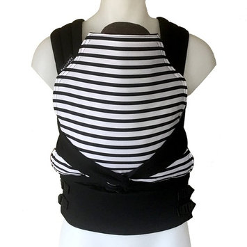 BabyHawk by Moby Baby Carrier for Newborns + Toddlers - Meh Dai (Mei Tei) - Seriously Striped Black