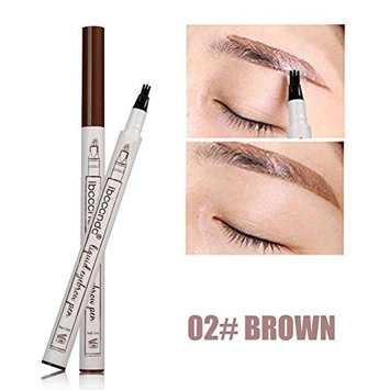 Tattoo Eyebrow Pen with 3 Colors Long-lasting Waterproof Brow Gel and Tint Dye Cream for Eyes Makeup by YOYORI (Brown)