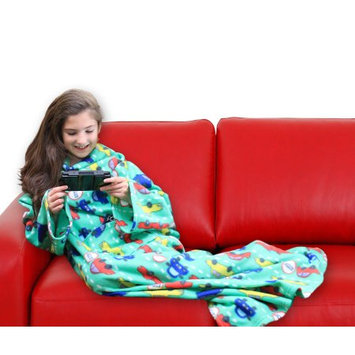 Dg Sports Wearable Fleece Blanket for Kids with Sleeves and Pockets Luxuriously Soft & Non-Irritating Fabric Machine Washable