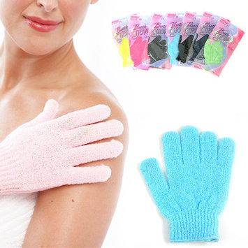 1 Shower Bath Glove Exfoliating Wash Skin Spa Massage Scrub Loofah Body Scrubber