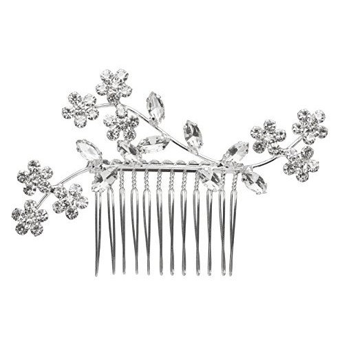 L. Erickson Everly Crystal Comb - Crystal/Silver