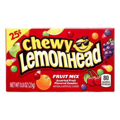 Lemonhead Chewy Lemonhead Fruit Mix, Assorted Fruit Flavors, 0.8 Oz, 24 Ct (Innerpack of 24)