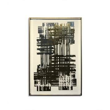 Bassett Mirror Multi Foil Matrix I Wall Art 9901-474A