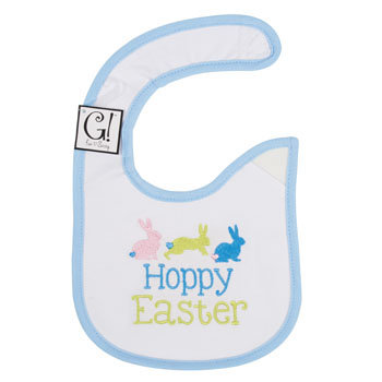 Dollaritemdirect BABY BIB HAPPY EASTER 12.5 X 8 COTTON, Case Pack of 144