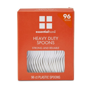 Essential Home Plastic Spoons - 96 Count
