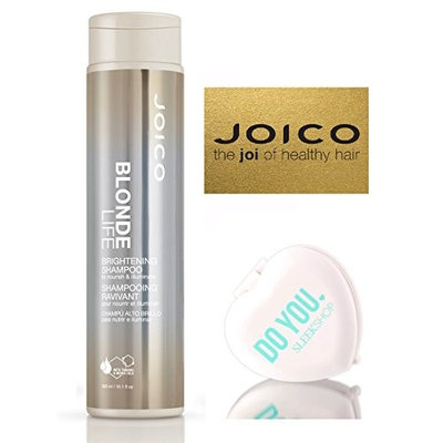 Joico BLONDE LIFE Brightening Shampoo (with Sleek Compact Mirror) (10.1 oz/300 ml - retail size)