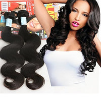 ness Brazilian Virgin Hair Body Wave, 3 Bundles Natural Color Black Real Unprocessed Virgin Human Hair Extensions Weave Weft 16