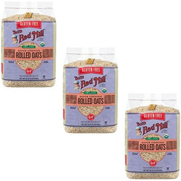 Bobs Red Mill Gluten Free Organic Quick Cooking Oats, 32 Ounce (Pack of 3)