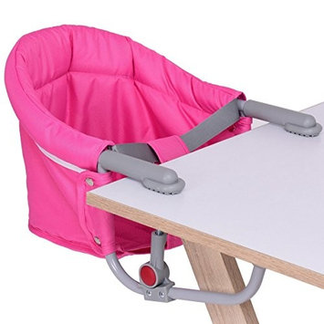Baby Foldable Portable Hook on Chair Table Chair Pink